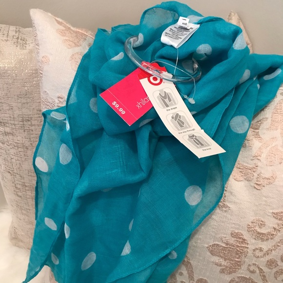 FREE with any $25 purchase! Polka Dot Summer Scarf